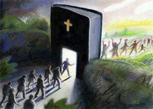 Happy People Following Jesus