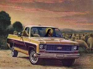 Jesus Driving Sheep