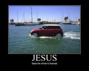 Jesus has driver's license