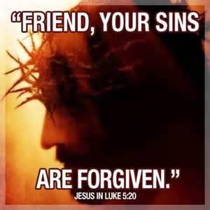 Friend sins are forgiven