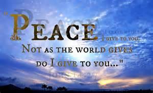 Peace Not Like the World