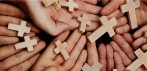 hands with crosses