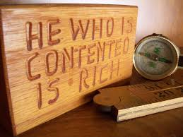 Contented is Rich