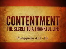 Contentment Secret to Thankful