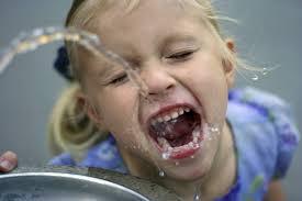 Drinking Fountain Girl