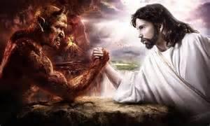 Jesus Battling Jesus
