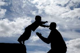 Son leaping to Father