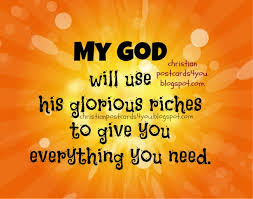 God Will Give Everything We Need