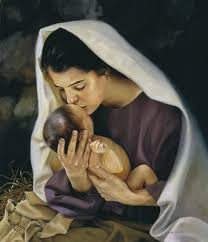 Mary Kissing Baby