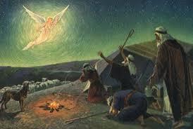 Shepherds with Angel