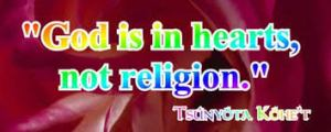 God is In Hearts not Religion
