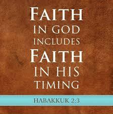 Faith in God's Timing