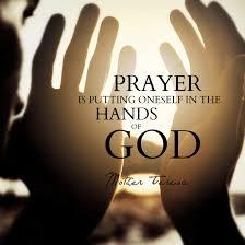 Prayer in His Hands
