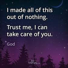 Trust God to Care For You
