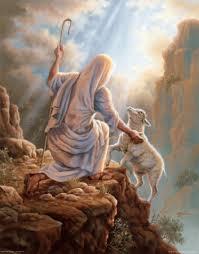 Jesus Lifting Sheep Up