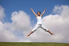 Gal Jumping In Air