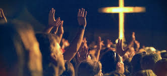 Cross with People WOrshipping