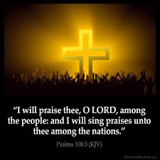 I will Praise the Lord Cross