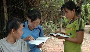 Girls Sharing God's Word