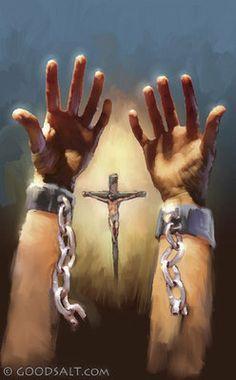 Cross and Hands Broke Free