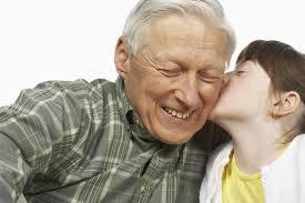 Girl Kissing Dad