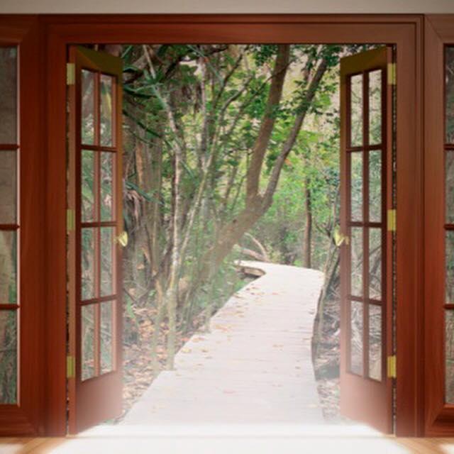 Door Open To Pathway
