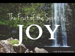 Fruit of the Spirit is Joy