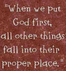 Seek God First Puts Life In Place