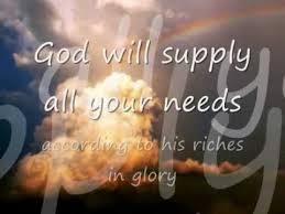 God Will Supply