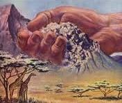 God's Hand Moving Dirt