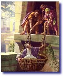 Paul in a Basket