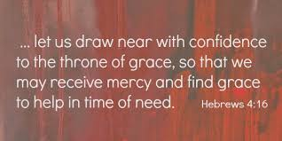 Draw to the throne of Grace