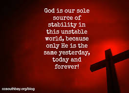 God is our Stability