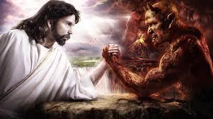 Satan Fighting Jesus