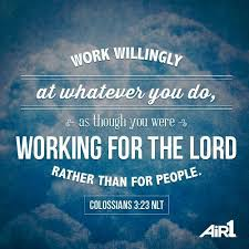 Work for God not for people