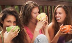 Girls Having Coffee