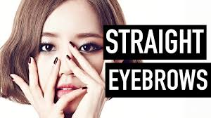 Straight Eyebrows